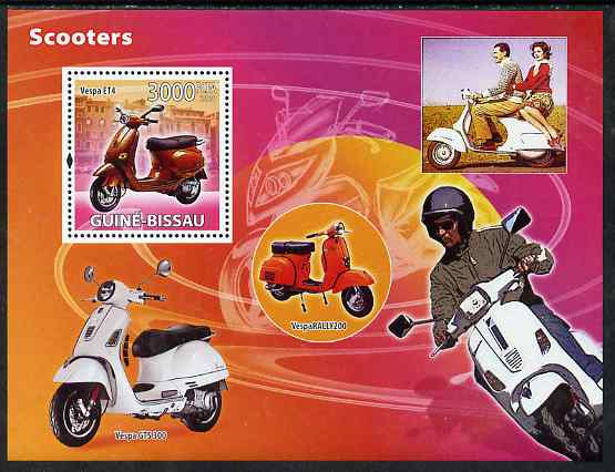 Guinea - Bissau 2008 Scooters perf souvenir sheet unmounted mint