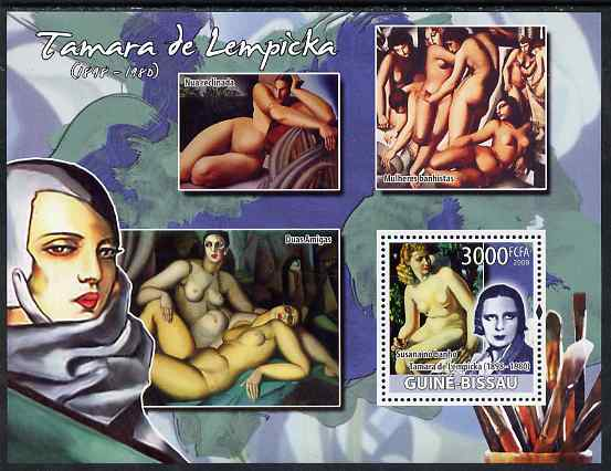 Guinea - Bissau 2008 Nude paintings by Tamara de Lempicka perf souvenir sheet unmounted mint