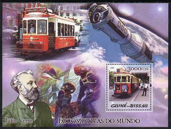 Guinea - Bissau 2005 Trams & Jules Verne perf s/sheet unmounted mint Mi BL 506