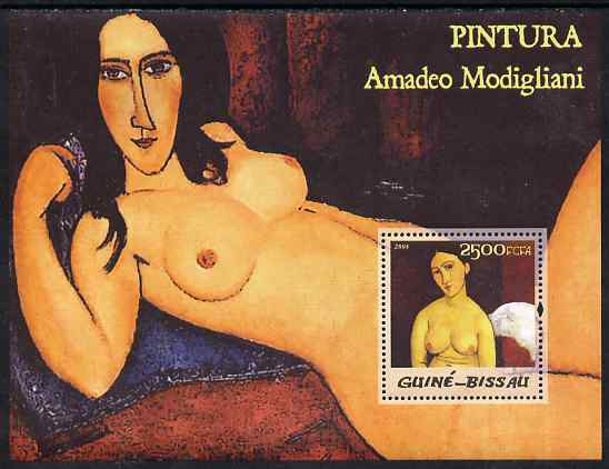 Guinea - Bissau 2005 Paintings by Modigliani perf s/sheet unmounted mint Mi BL 505