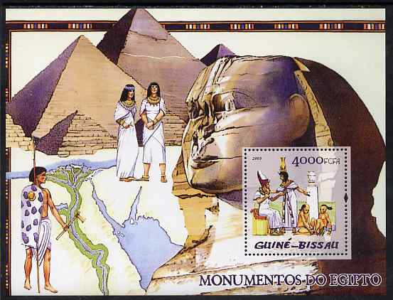 Guinea - Bissau 2005 Monuments of Egypt perf s/sheet unmounted mint Mi BL 519