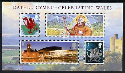 Great Britain 2009 Celebrating Wales perf m/sheet unmounted mint