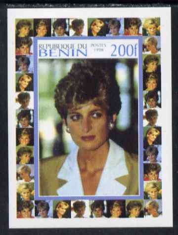 Benin 1998 Princess Diana Memoriam #3 - 200f individual imperf deluxe sheet unmounted mint. Note this item is privately produced and is offered purely on its thematic app...