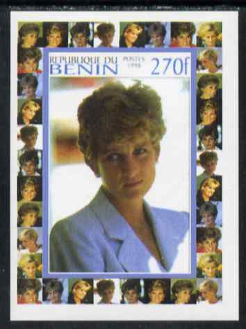 Benin 1998 Princess Diana Memoriam #4 - 270f individual imperf deluxe sheet unmounted mint. Note this item is privately produced and is offered purely on its thematic appeal