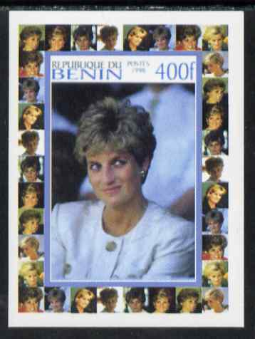 Benin 1998 Princess Diana Memoriam #6 - 400f individual imperf deluxe sheet unmounted mint. Note this item is privately produced and is offered purely on its thematic appeal, stamps on diana, stamps on royalty