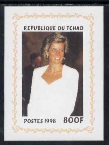 Chad 1998 Princess Diana Memoriam #7 - 800f individual imperf deluxe sheet unmounted mint. Note this item is privately produced and is offered purely on its thematic appeal. .