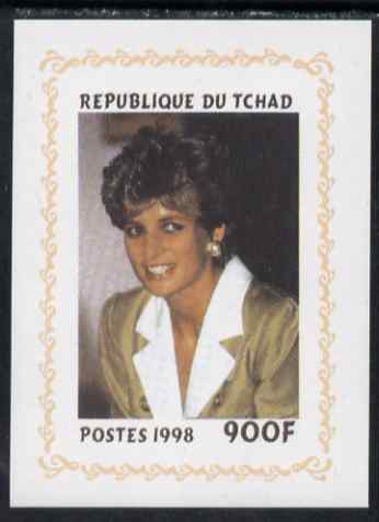 Chad 1998 Princess Diana Memoriam #8 - 900f individual imperf deluxe sheet unmounted mint. Note this item is privately produced and is offered purely on its thematic appeal. .