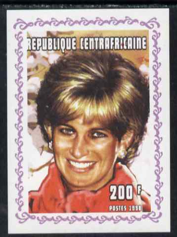 Central African Republic 1998 Princess Diana Memoriam #9 individual imperf deluxe sheet unmounted mint. Note this item is privately produced and is offered purely on its thematic appeal