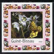 Guinea - Bissau 2003 Orchids & Fungi #1 individual imperf deluxe sheet unmounted mint, as Mi 2087