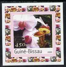 Guinea - Bissau 2003 Orchids & Fungi #4 individual imperf deluxe sheet unmounted mint, as Mi 2090