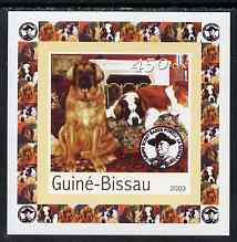 Guinea - Bissau 2003 Dogs #1 individual imperf deluxe sheet featuring Baden Powell, unmounted mint. Note this item is privately produced and is offered purely on its thematic appeal