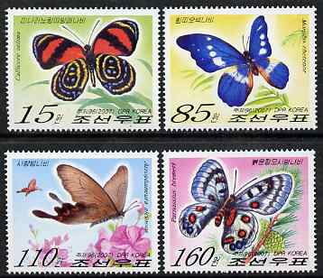 North Korea 2007 Butterflies perf set of 4 unmounted mint, SG N4659-62