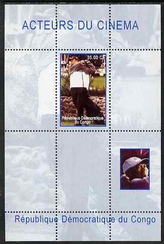 Congo 2000 Film Stars & Tiger Woods perf s/sheet #4 (Matt Damon) unmounted mint. Note this item is privately produced and is offered purely on its thematic appeal