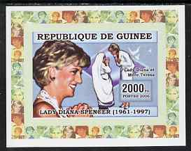 Guinea - Conakry 2006 Princess Diana imperf individual deluxe sheet #1 - with Mother Teresa unmounted mint. Note this item is privately produced and is offered purely on its thematic appeal