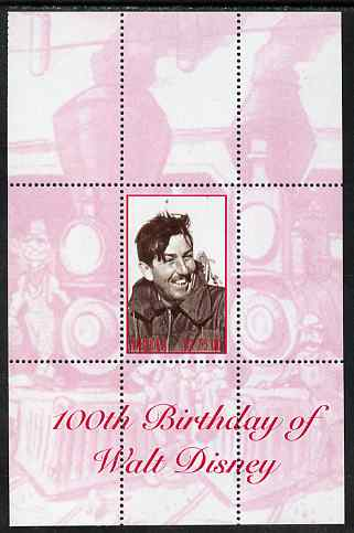 Angola 2001 Birth Centenary of Walt Disney perf s/sheet #3 unmounted mint. Note this item is privately produced and is offered purely on its thematic appeal