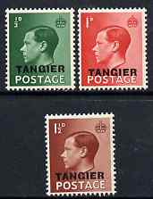 Morocco Agencies - Tangier 1936 KE8 overprinted set of 3 unmounted mint SG 241-3