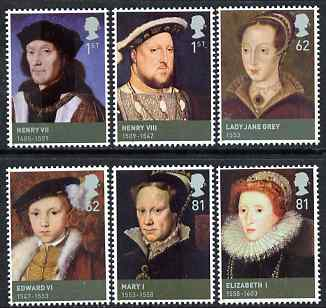 Great Britain 2009 The House of Tudor perf set of 6 unmounted mint