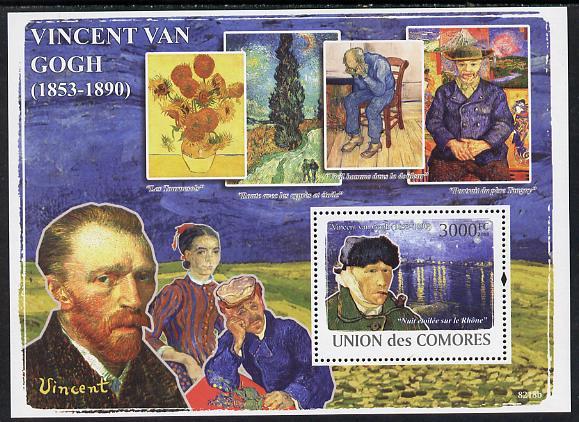 Comoro Islands 2008 Vincent Van Gogh perf s/sheet unmounted mint