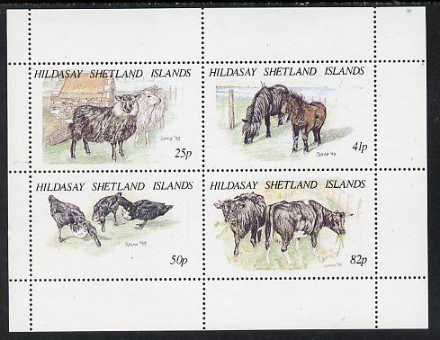 Shetland Islands 1995 Animals perf set of 4 (face value \A31.98) unmounted mint