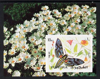 Fujeira 1972 Butterflies imperf m/sheet unmounted mint (Mi BL 134B)