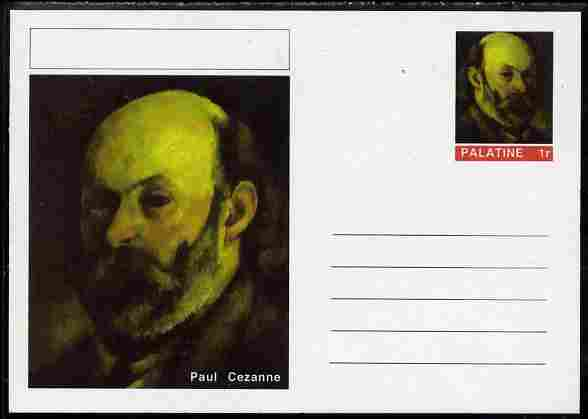 Palatine (Fantasy) Personalities - Paul Cezanne postal stationery card unused and fine