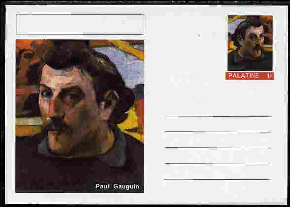 Palatine (Fantasy) Personalities - Paul Gauguin postal stationery card unused and fine