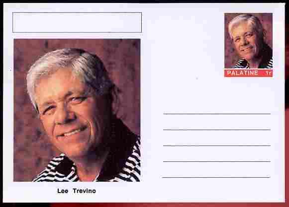 Palatine (Fantasy) Personalities - Lee Trevino (golf) postal stationery card unused and fine