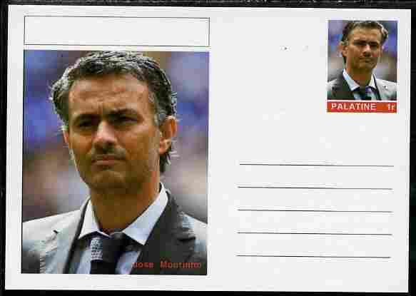 Palatine (Fantasy) Personalities - Jose Mourinho (football) postal stationery card unused and fine