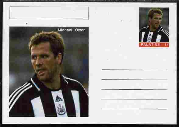 Palatine (Fantasy) Personalities - Michael Owen (football) postal stationery card unused and fine
