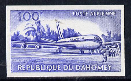 Dahomey 1963 Air 100f (Boeing 707 Airliner) unmounted mint imperf colour trial proof (several different combinations available but price is for ONE) as SG 194