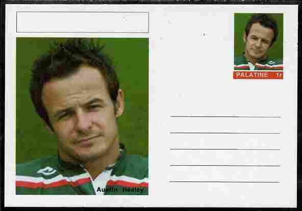 Palatine (Fantasy) Personalities - Austin Healey (rugby) postal stationery card unused and fine