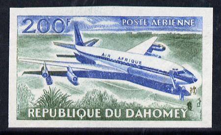 Dahomey 1963 Air 200f (Boeing 707) unmounted mint imperf colour trial proof (several different combinations available but price is for ONE) as SG 195