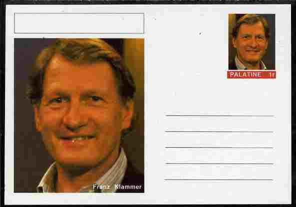 Palatine (Fantasy) Personalities - Franz Klammer (skiing) postal stationery card unused and fine