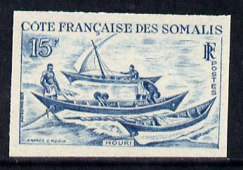 French Somali Coast 1964 Local Dhows 15f (Houri) Imperf colour trial proof (several different colours  available but price is for ONE) as SG 476 unmounted mint