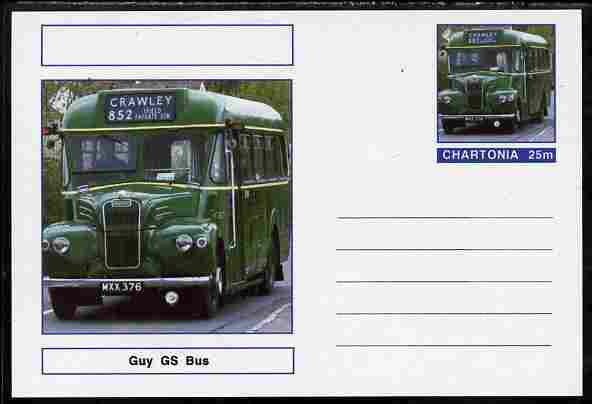 Chartonia (Fantasy) Buses & Trams - Guy GS Bus postal stationery card unused and fine