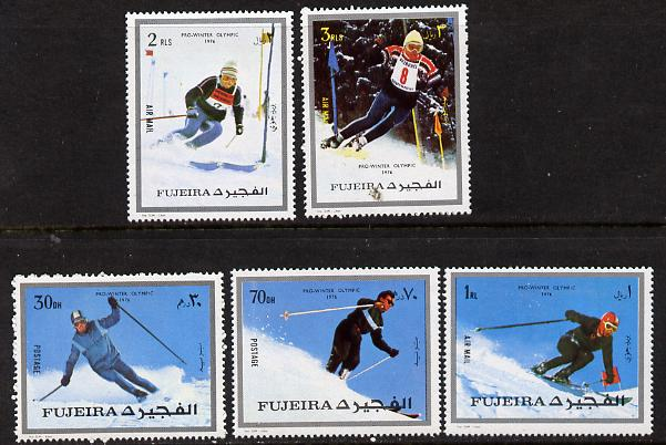 Fujeira 1972 Winter Olympics set of 5 unmounted mint (Mi 1338-42A)