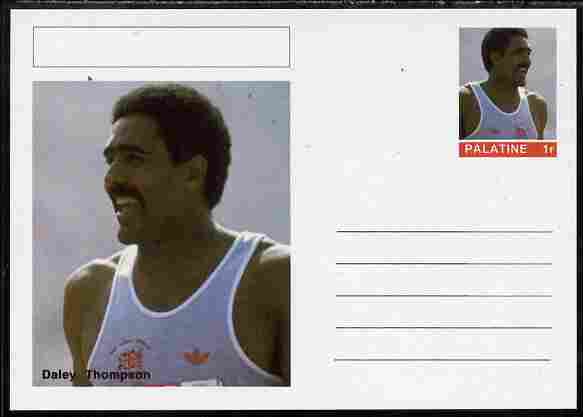 Palatine (Fantasy) Personalities - Daley Thompson (athletics) postal stationery card unused and fine