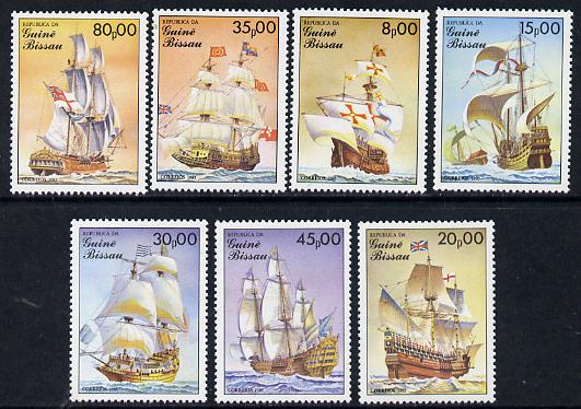 Guinea - Bissau 1985 Early Sailing Ships, perf set of 7 unmounted mint, SG 950-56, Mi 872-78*