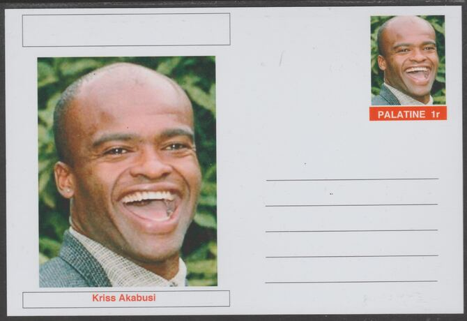 Palatine (Fantasy) Personalities - Kriss Akabusi (athletics) postal stationery card unused and fine