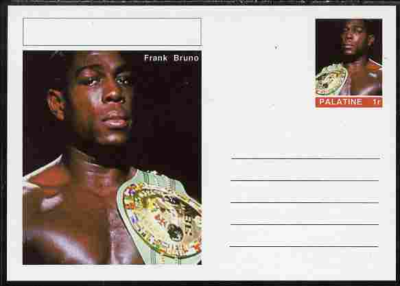 Palatine (Fantasy) Personalities - Frank Bruno (boxing) postal stationery card unused and fine