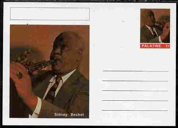 Palatine (Fantasy) Personalities - Sidney Bechet postal stationery card unused and fine