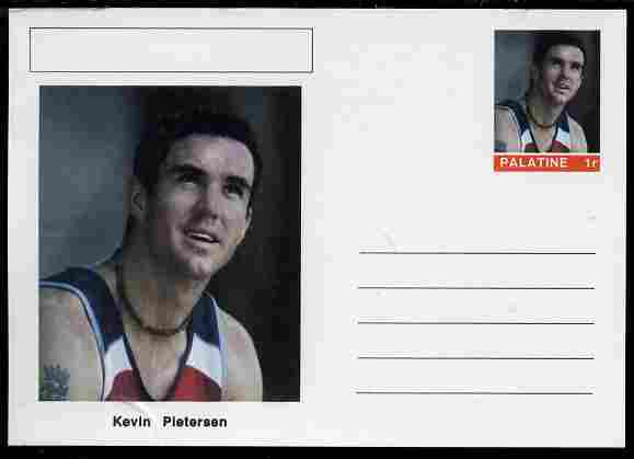 Palatine (Fantasy) Personalities - Kevin Pietersen (cricket) postal stationery card unused and fine