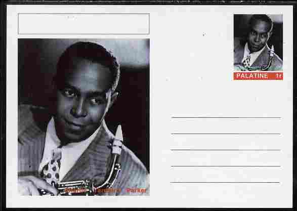Palatine (Fantasy) Personalities - Charlie 'Yardbird' Parker postal stationery card unused and fine