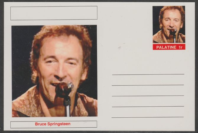 Palatine (Fantasy) Personalities - Bruce Springsteen postal stationery card unused and fine