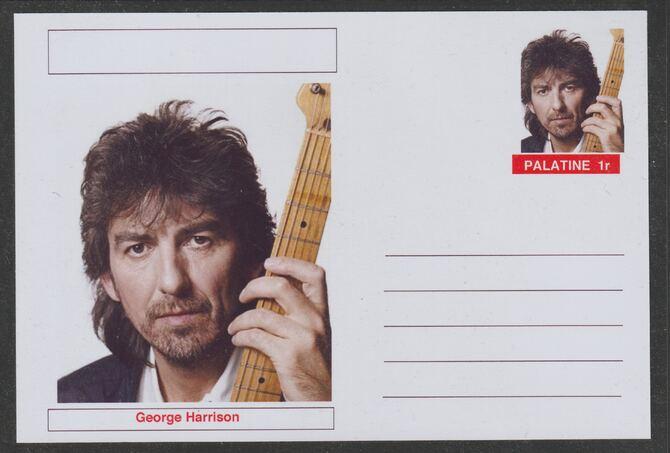 Palatine (Fantasy) Personalities - George Harrison postal stationery card unused and fine