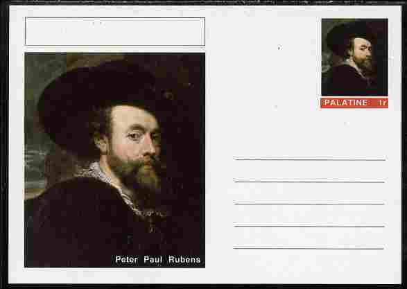 Palatine (Fantasy) Personalities - Peter Paul Rubens postal stationery card unused and fine