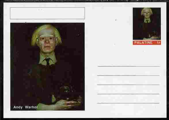 Palatine (Fantasy) Personalities - Andy Warhol postal stationery card unused and fine
