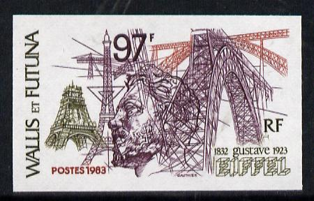 Wallis & Futuna 1983 Gustave Eiffel 97f imperf from limited printing, as SG 418*