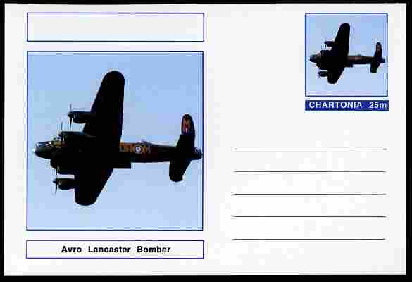 Chartonia (Fantasy) Aircraft - Avro LancasterI postal stationery card unused and fine