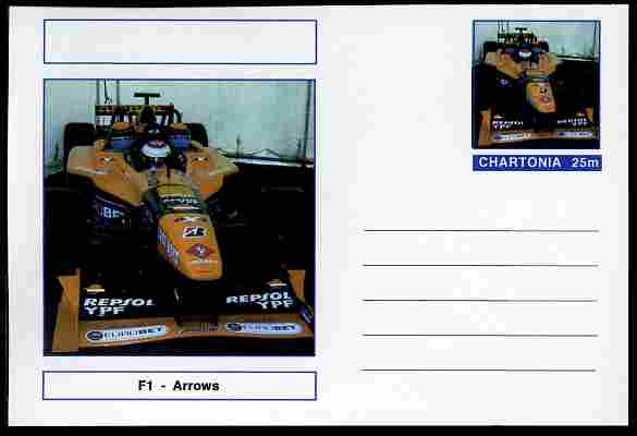 Chartonia (Fantasy) Formula 1 - Arrows postal stationery card unused and fine